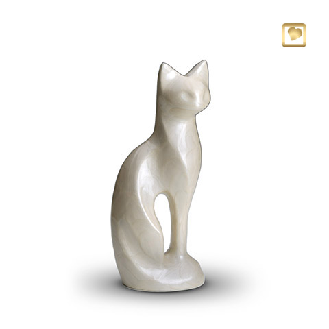 LoveUrns cat white